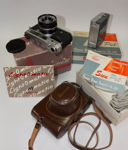 beauty lightomatic lll câmera 35mm + acessórios