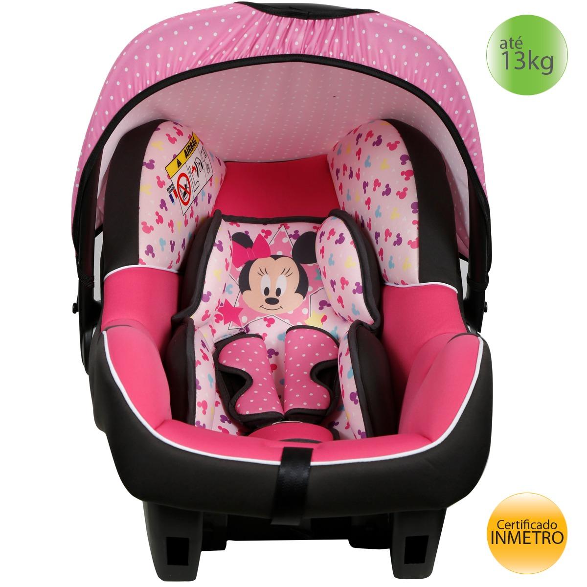 Bebê Conforto 0+ (13kgs) Disney Beone Minnie Mouse Baby - R  349 d62f43c9e53