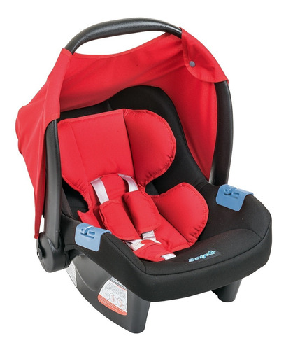bebê conforto touring evolution se burigotto red + base