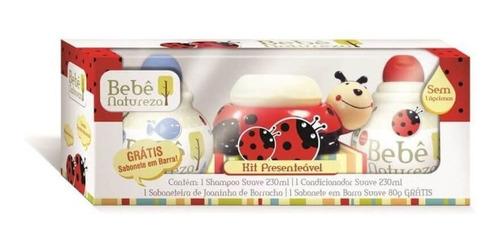 bebê natureza joaninha kit c/4 produtos