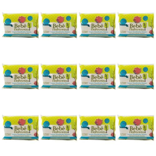 bebê natureza lenços umedecidos azul c/50 (kit c/12)