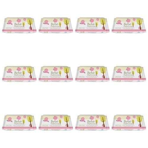 bebê natureza lenços umedecidos rosa c/50 (kit c/12)