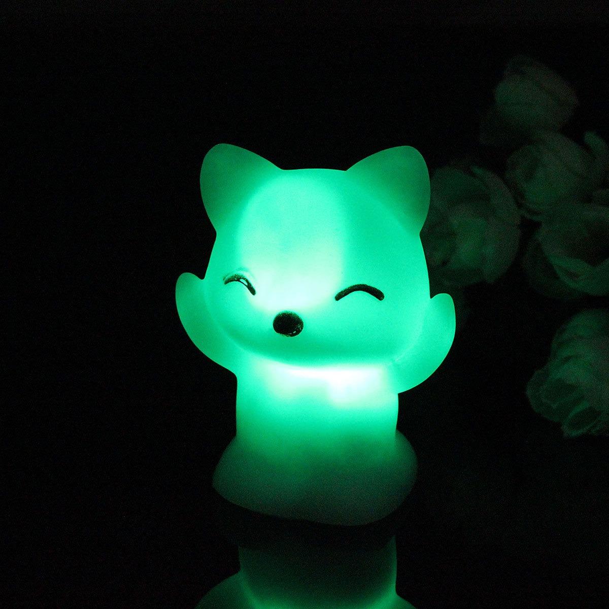 Bebe Quarto Lampadas Led Luz Da Noite Dos Desenhos Animados R