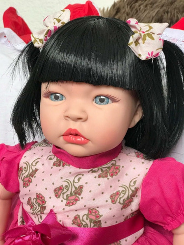 bebê realista reborn menina52cm envio rápido loira ou morena
