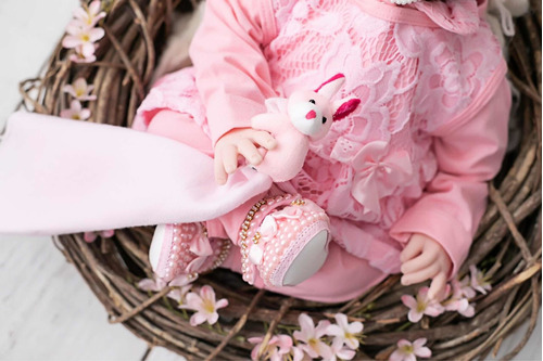 bebê reborn + 20 acessórios (bolsa maternidade)