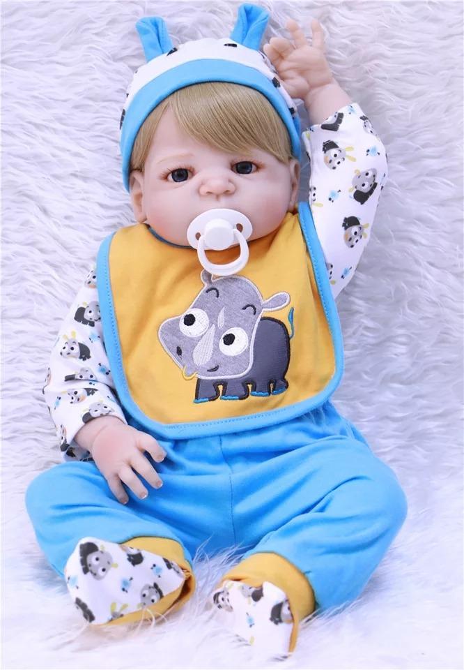 ba87f5b21 bebê reborn barato menino loiro silicone 55cm pronta entrega. Carregando  zoom.
