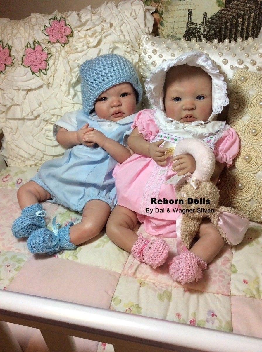 fa14f7e16 bebê reborn boneca gêmeas realista promoção barata. Carregando zoom.