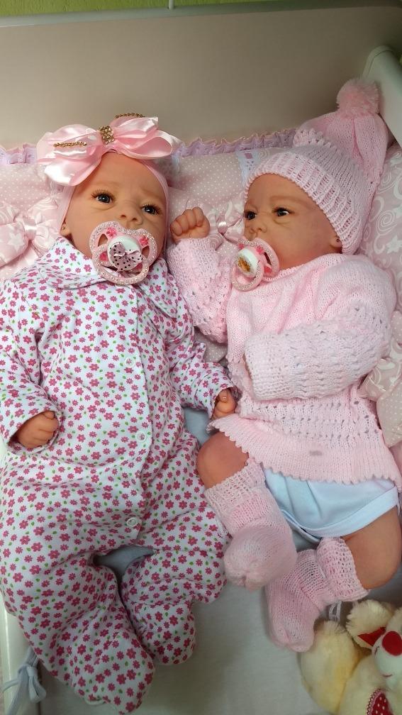 ca6fb2a59 bebê reborn boneca realista gêmeas com enxoval de brinde. Carregando zoom.