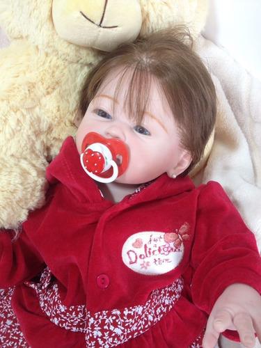 bebê reborn carmela corpo todo de vinil siliconado
