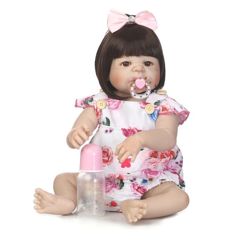 b3b5832a8 bebê reborn corpo 100% silicone menina 55 cm pronta entrega. Carregando zoom .