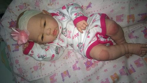 bebê reborn corpo inteiro em vinil siliconado*linda