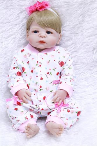 bebê reborn de silicone menina original npk estoque em sp