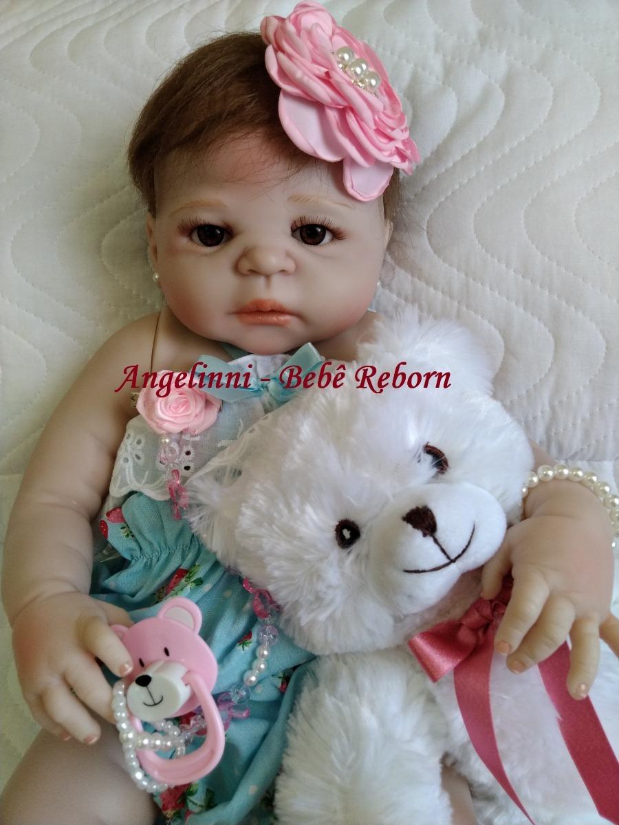 2c01abab4 bebê reborn eloá - silicone - pronta entrega! com urso. Carregando zoom.