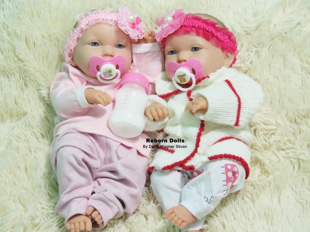 2854749db bebê reborn gêmeas realistas pode dar banho recém nascidas. Carregando zoom.
