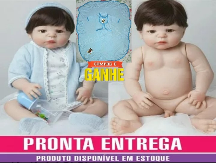 e9cdce99e Bebê Reborn Menino Pedro Arthur 100% Vinil Silicone + Brind - R  699 ...