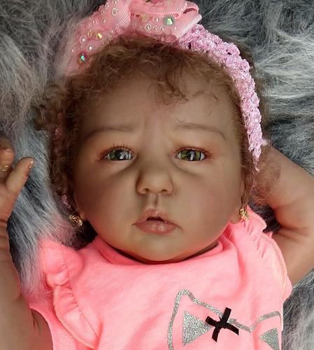 bebê reborn morena - negra pronta linda super promoção