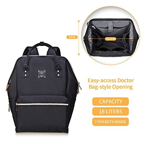 6cd8a9f1e72 Bebamour Casual College Backpack Lightweight Travel Wide Op ...