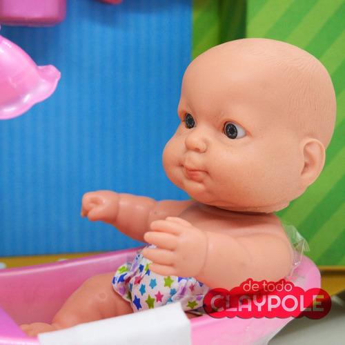 bebé 20 cms con bañadera - bañando a mi gordito - cariñito