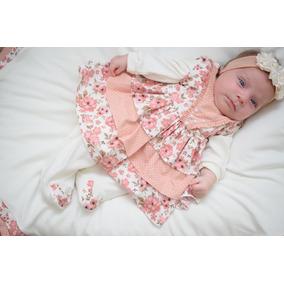 a4ce85eb02851 Kit Saida De Maternidade Menina 05 Peças - Anni Rosa