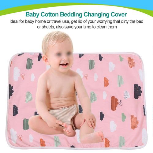bebé algodón orina estera pañal pañal ropa de cama cambi