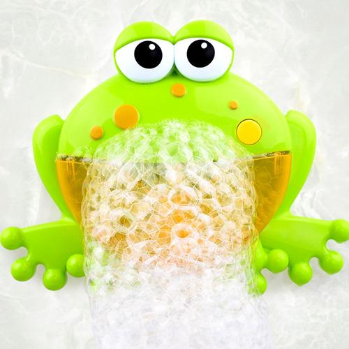 bebé baño juguete burbuja de la máquina rana automática