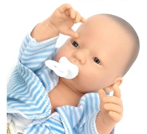 bebe bebote mini  reborn recien nacido con pañal y chupete
