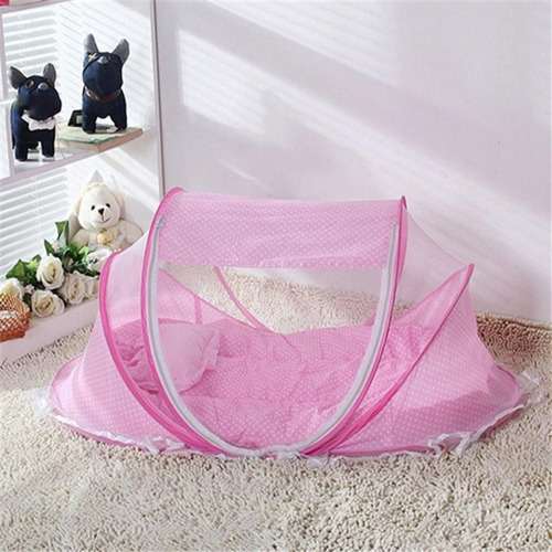 bebe berço tenda cercadinho portátil mosquiteiro azul rosa