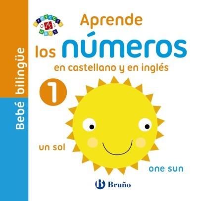 bebé bilingüe. aprende los números en castellano y en inglés