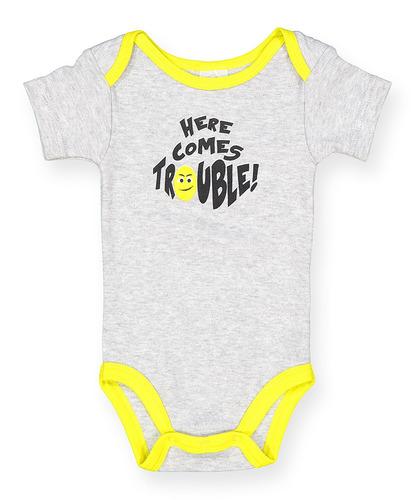 bebé bodies    aquí viene problema    - tamaños 0-12m cas