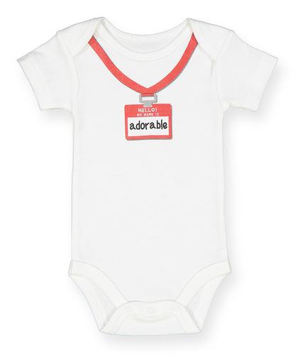 bebé bodies    hola mi nombre es adorable    - tamaños 0-1