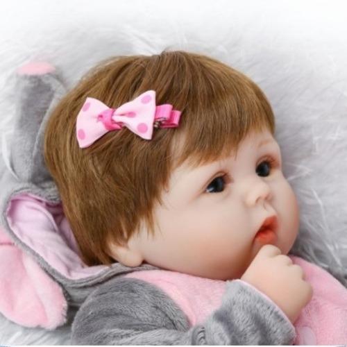 bebe boneca menina reborn roupa elefante pronta entrega