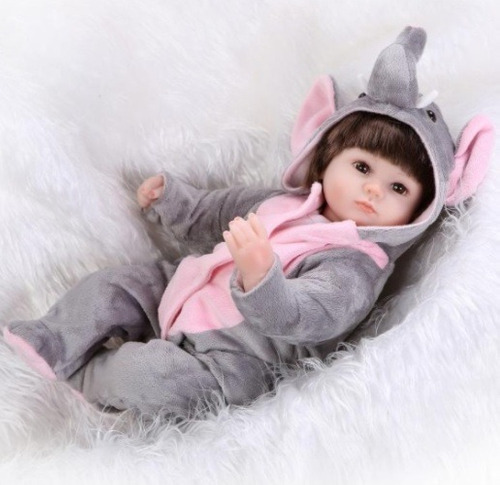 bebe boneca menina reborn roupinha panda ou elefante