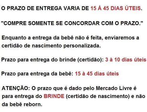 5068437f56 Bebe Boneca Reborn 43 Cm Baby Entrega De 20 A 45 Dias - R  332