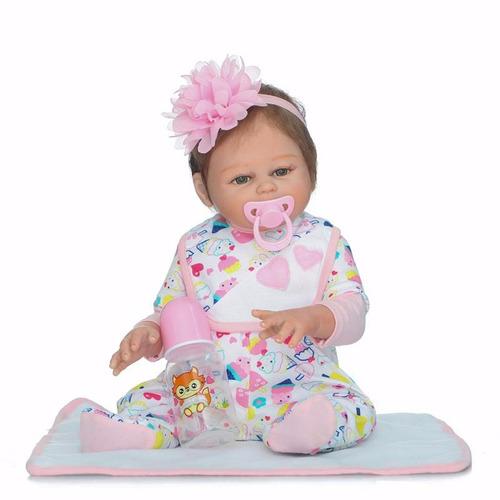 bebe boneca reborn toda em vinil siliconado lancamento 2017