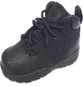 d77c0dc59 Bebe Botas Nike Air Manoa Piel Textil Negro Infantil Unisex