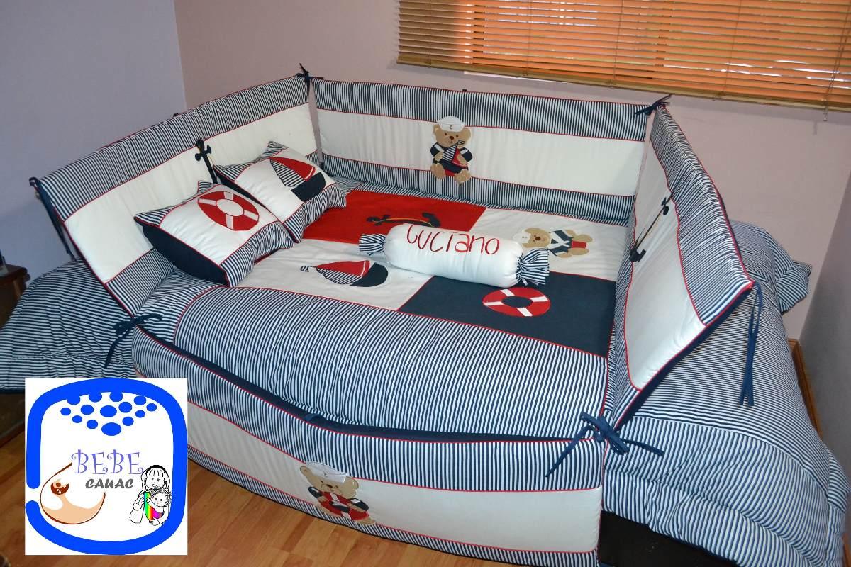 Lenceria bebe colecho cama cuna corral cuarto decoraci n for Decoracion habitacion bebe marinero