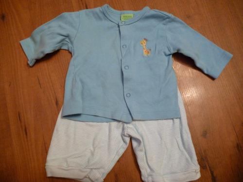bebe conjunto azul tres piezas marca ardillitas talla 0-3 m