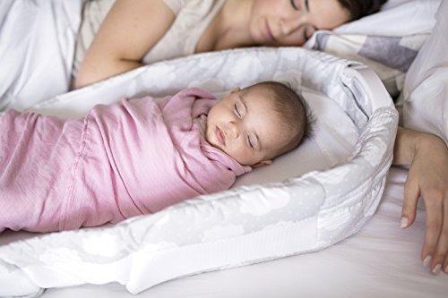 bebé delight snuggle nido surround, extra larga, de plata