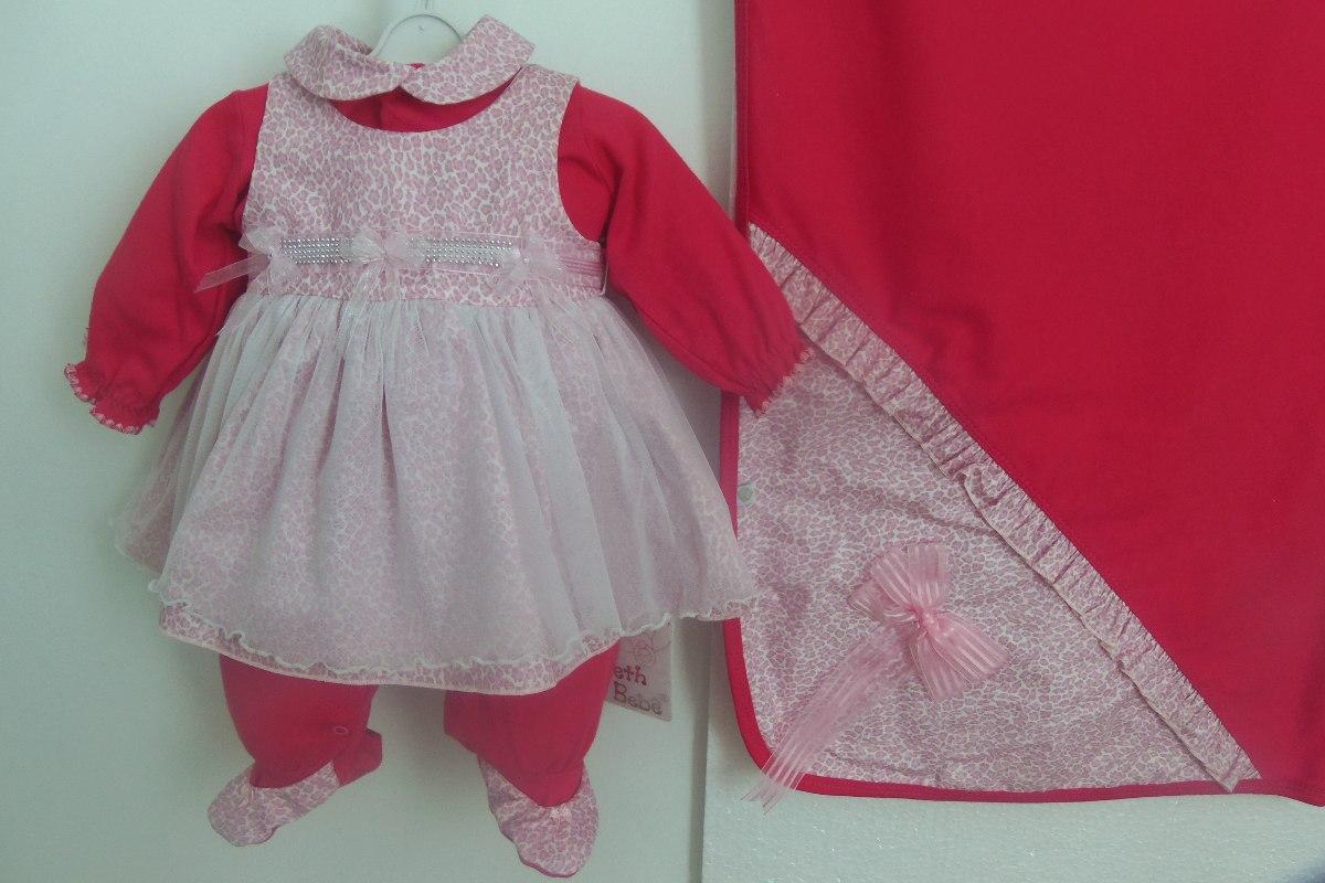 Bebe Fem Kit Maternidade Macacão Vestido bd8d83b8902