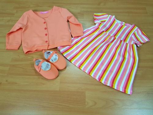 bebe isaac mizrahi set 3 pzs niña 18 meses importación nuevo