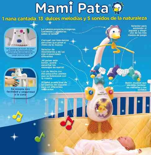 bebe juguete cuna vtech movil mami pata proyector musical