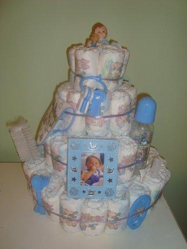 bebé jumbo 4 capas de la torta de pañales - viene envuelto