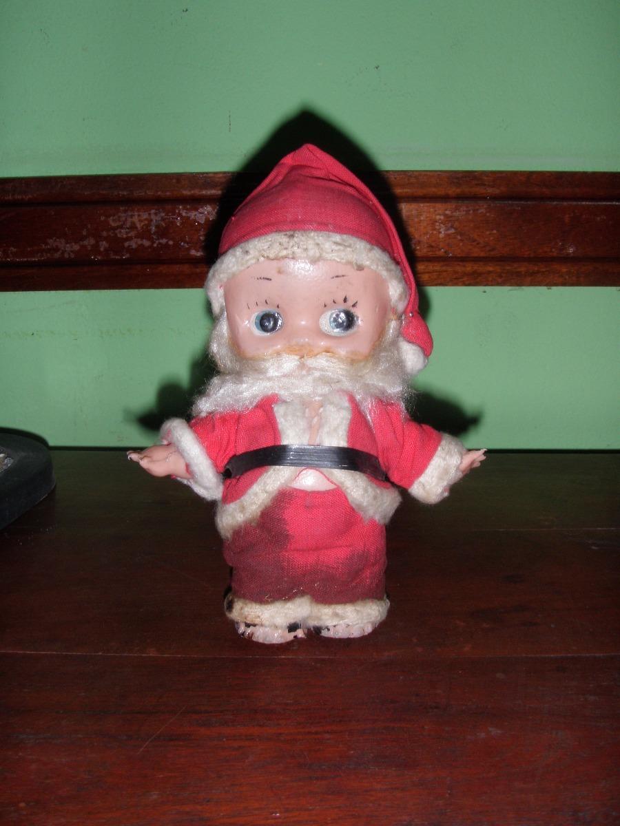 Bebe Kewpie De Plastico Inflado Anos 60 Vestido De Papa Noel 300 - Bebes-vestidos-de-papa-noel