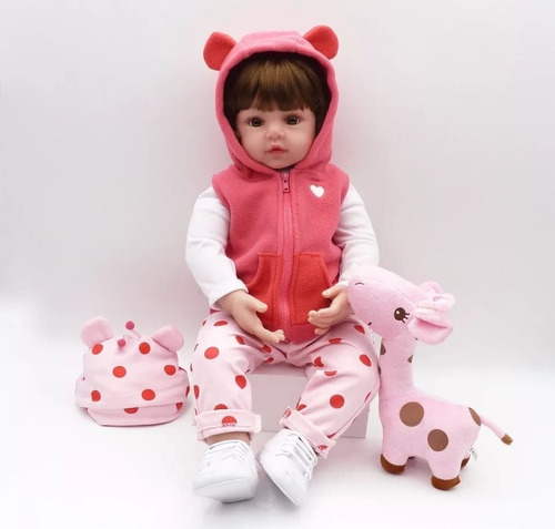 bebe muñeca real de silicona 48cm + envio