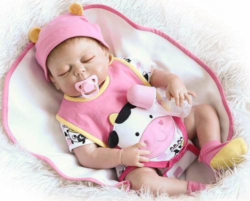 bebé muñeca realista reborn 100% silicona 46cm envío rápido.