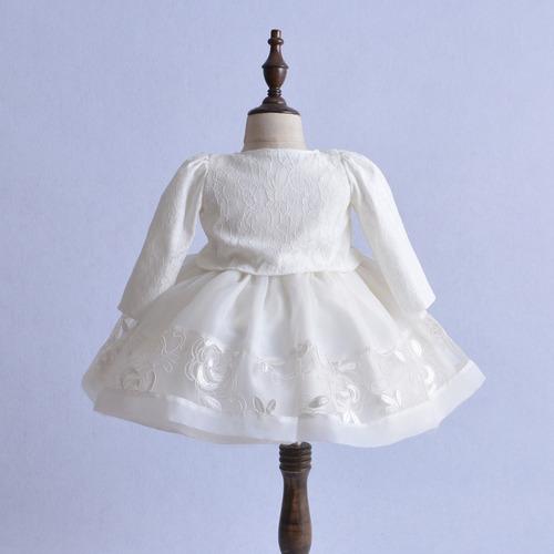 bebe niña vestido ajuar bautizo fiesta ocasion boda pajecita
