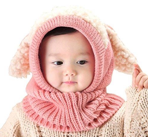 e2be9a5f17a Bebé Niñas Sombrero De Invierno Sombreros Bufandas Capuch ...