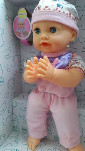 bebe para niña  aplaude con control de sonido. juguete
