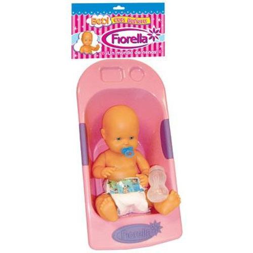 bebé plastisol bebi con bañera en bolsa