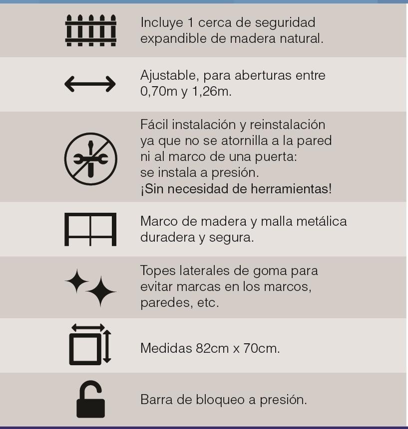 Rejas Cercas Seguridad Baranda Bebe Niños Mascotas Puerta - $ 485.00 ...